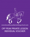 Off Peak Private Lesson Individual Voucher